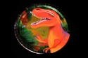 Picture of Metallic Dinosaur Dessert Plate